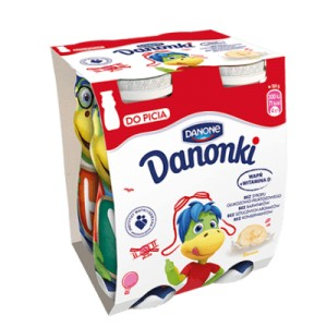 Danonki Jogurt Do Picia 4 X 100 G Banan